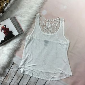 RUE 21 EMBROIDERED RACERBACK TANK TOP